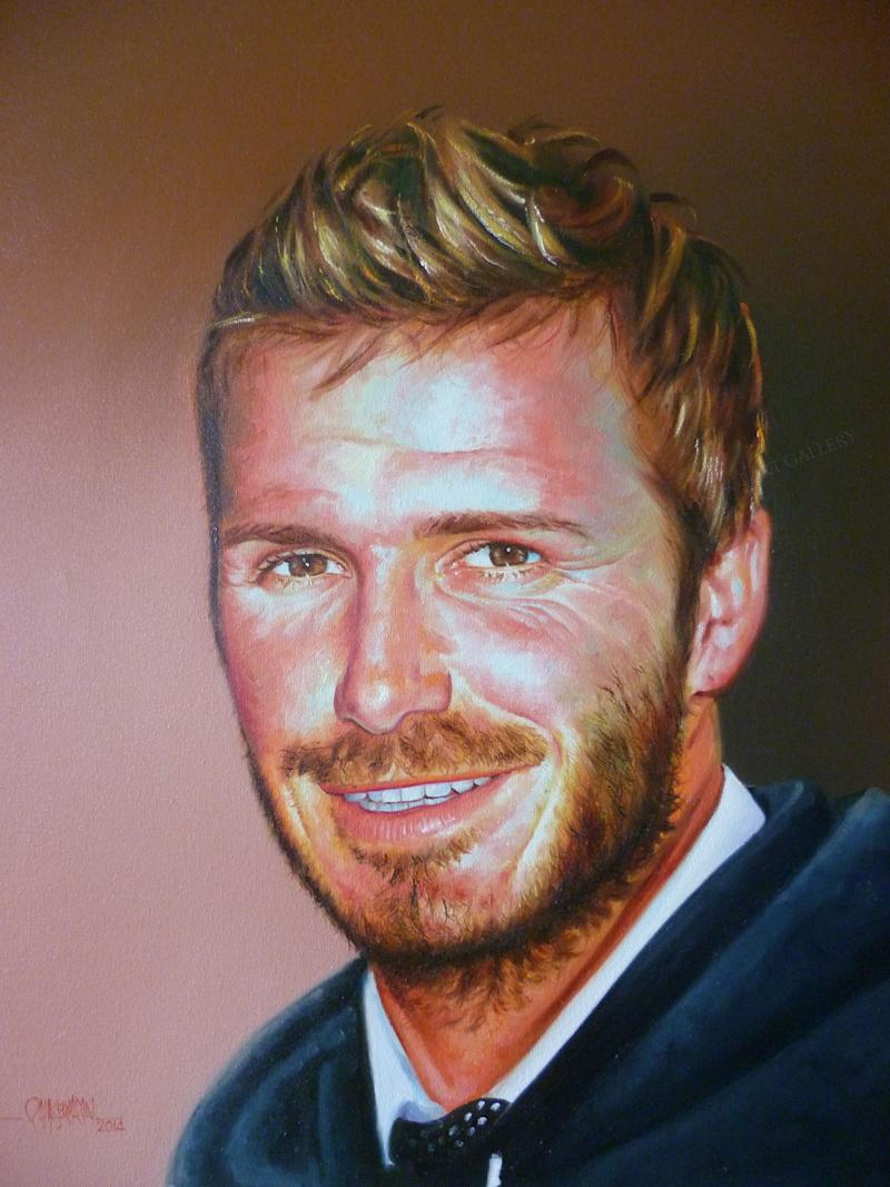 An amazing portrait of David Beckham with a dashing smile on his face