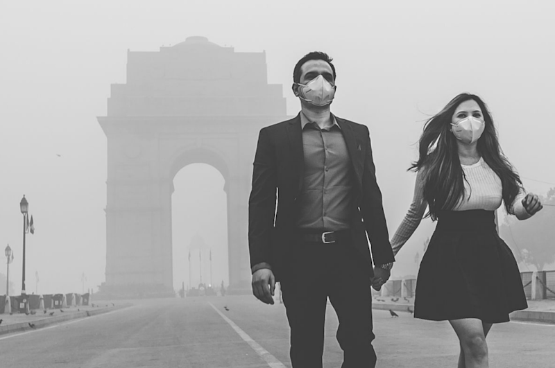 The thought-provoking shoot highlights the disturbing smog in India. Photo: Banjara Studios