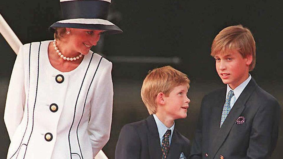 "Prince William will reportedly be concerned as Prince Harry ""appears to be exploiting his mother's iconic status"". Photo: Getty"