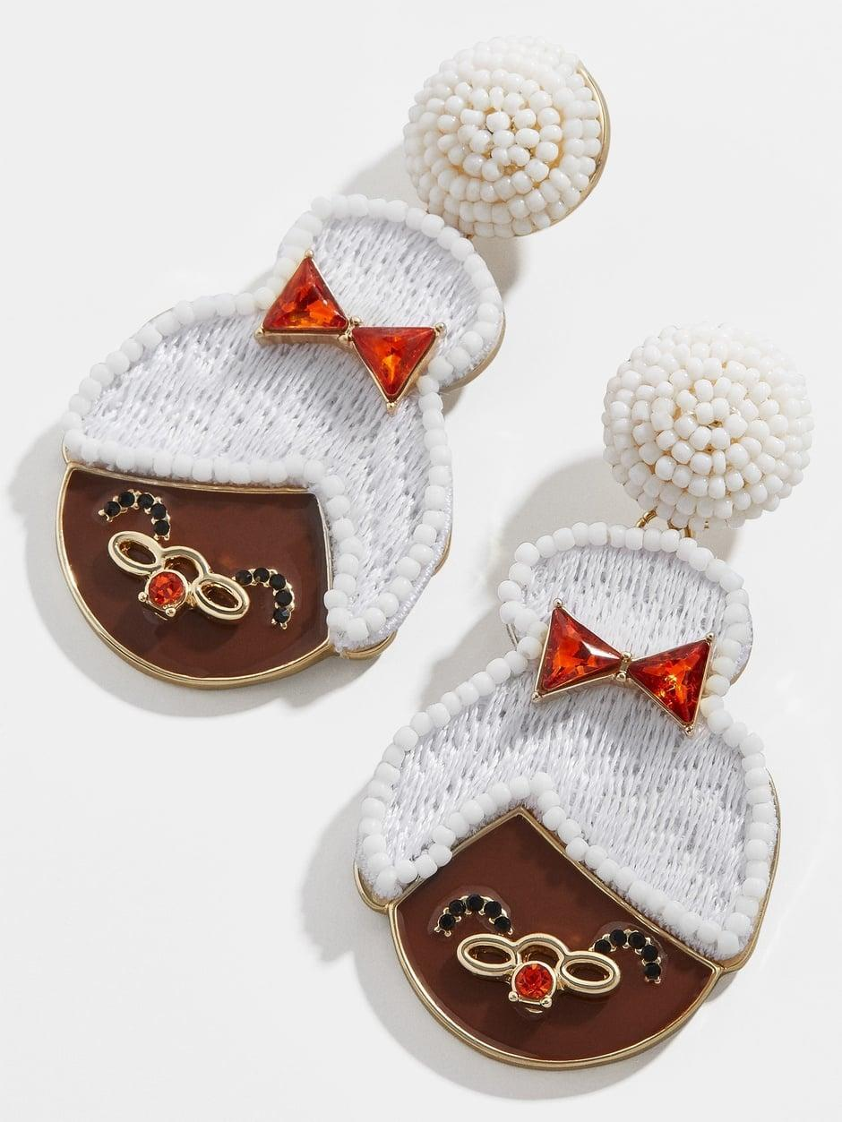 <p><span>Mrs. Claus Drop Earrings</span> ($58)</p>