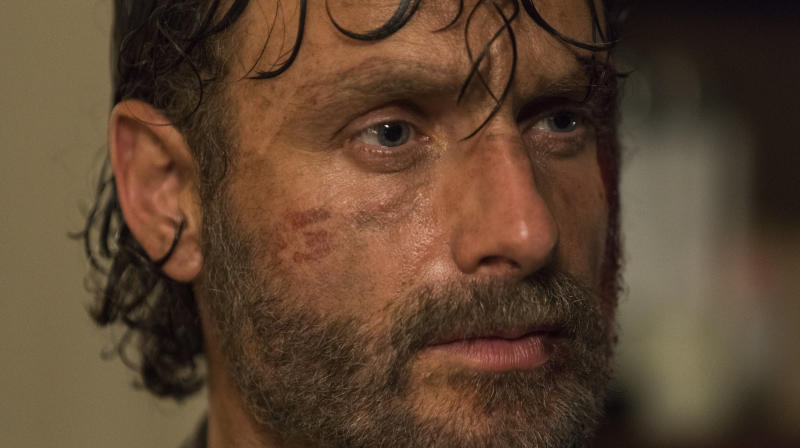 "So far in Season 8 of ""The Walking Dead,"" Andrew Lincoln's character seems very preoccupied with things that don't really matter."