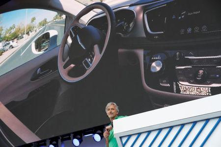 Waymo CEO John Krafcik speaks on stage during the annual Google I/O developers conference in Mountain View