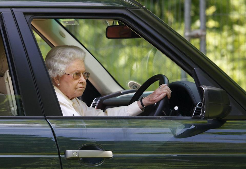 <p>The British royals—they're just like us. While the Queen certainly has plenty of staff to drive her wherever she pleases, Elizabeth II has been known to get behind the wheel herself. Whether she's attending a horse show or driving a World War II ambulance, the Queen certainly enjoys spending time in the driver's seat. Like any mother, she's even chauffeured her children, Prince Charles and Princess Anne, as well as her husband, Prince Philip. The monarch has also created her own driving uniform of sorts, as she's rarely spotted in her Land Rover without a printed silk headscarf or colorful hat, paired with the occasional large sunglasses. Need to see it for yourself? Keep scrolling to take a look at the numerous times Queen Elizabeth was photographed driving. </p>