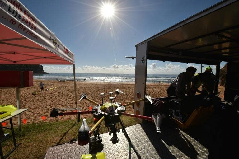 The drones can quickly identify underwater predators and deliver safety devices to swimmers