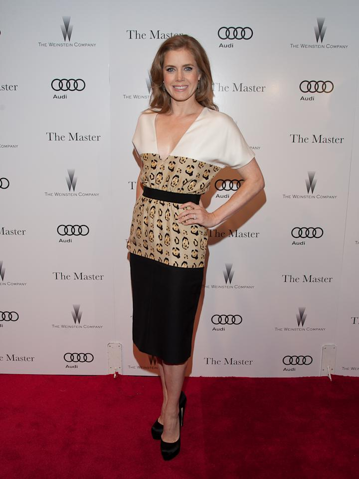 """NEW YORK, NY - SEPTEMBER 11:  Actress Amy Adams attends """"The Master"""" New York Premiere at Ziegfeld Theatre on September 11, 2012 in New York City.  (Photo by Dave Kotinsky/Getty Images)"""
