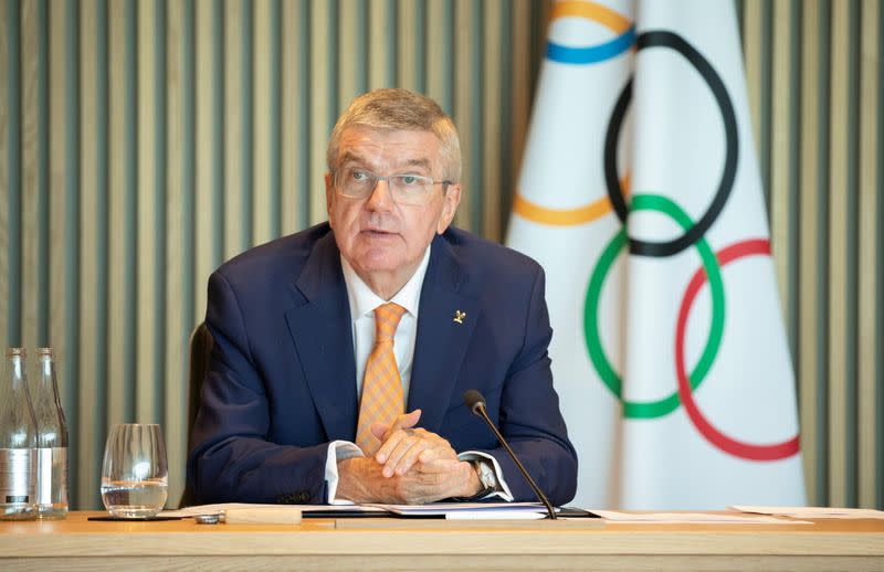 IOC's Bach sounds optimistic note on Tokyo Games in 2021