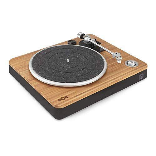 """<p><strong>House of Marley</strong></p><p>amazon.com</p><p><strong>$199.99</strong></p><p><a href=""""https://www.amazon.com/dp/B01JT42M8U?tag=syn-yahoo-20&ascsubtag=%5Bartid%7C2140.g.33501922%5Bsrc%7Cyahoo-us"""" rel=""""nofollow noopener"""" target=""""_blank"""" data-ylk=""""slk:Shop Now"""" class=""""link rapid-noclick-resp"""">Shop Now</a></p><p>Listening to vinyl feels a lot different than queuing up Spotify. This turntable looks clean and simple, but delivers on sound quality thanks to a modular Audio Technica cartridge and built-in pre-amp.</p>"""