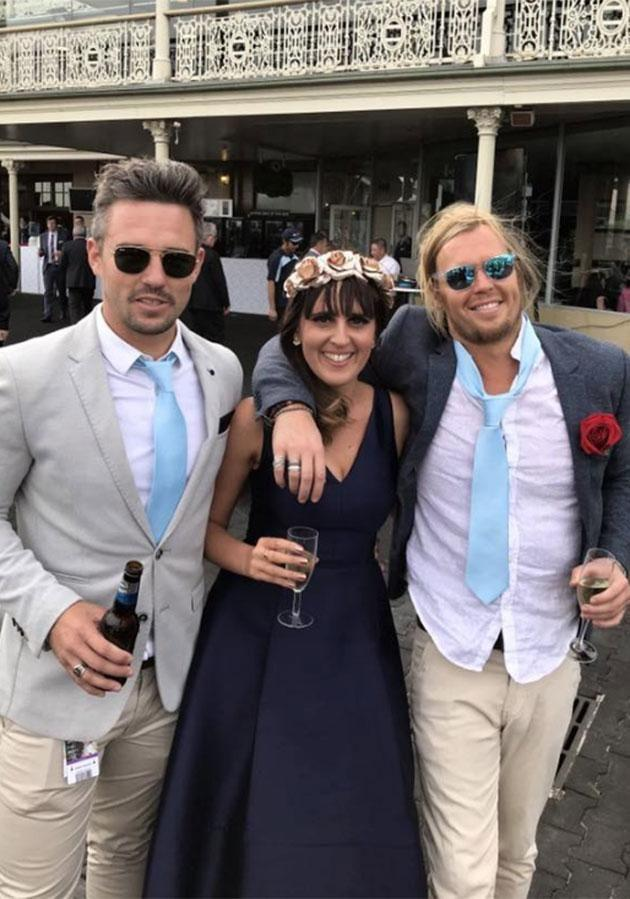 Ryan, Jacqui and Sam at the Randwick Races. Source: Supplied