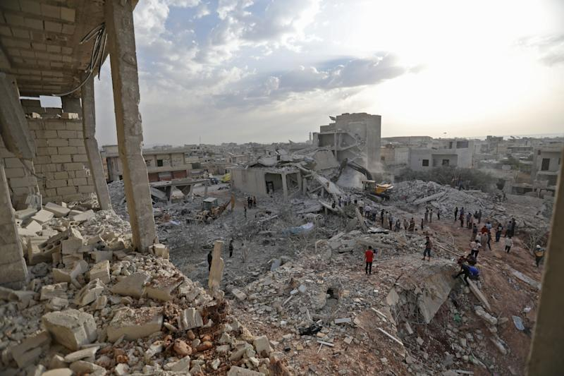 An Airstrike Killed at Least 35 People in a Rebel-Held Village in Syria