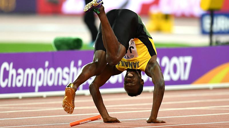 Watch: Jamaica's Usain Bolt pulls up short with injury in final race of career