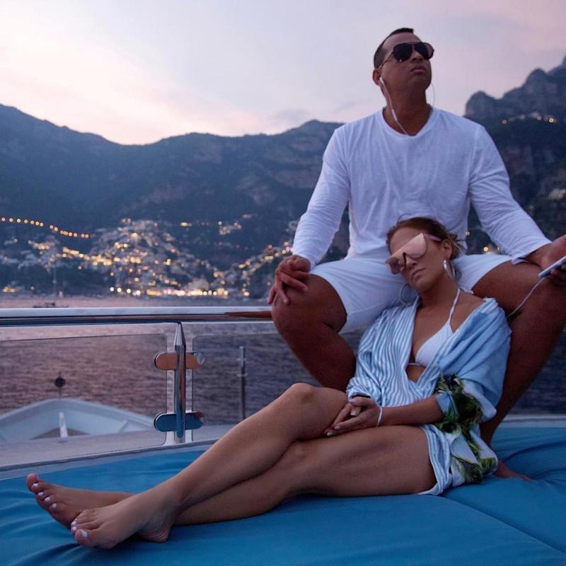 And, like Bey and Jay, J.Lo and A.Rod also made sure to spend some time off land.