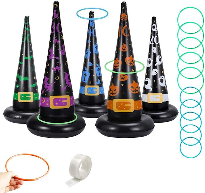 This blow-up ring toss game is the perfect choice for an at-home Halloween party.