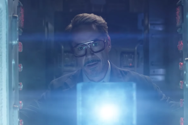 Robert Downey Jr.'s Tony Stark in a key scene from Avengers: Endgame. (Cinesite)