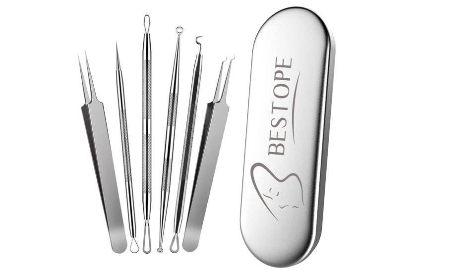 BESTOPE 5 Pack Blackhead Extractor Professional Blackhead Remover Tools