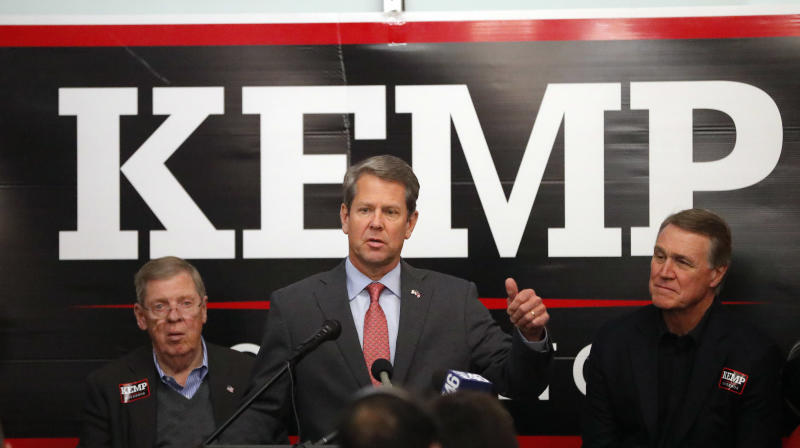 Brian Kemp, Accused Of Voter Suppression, Had Voting Issues On Election Day