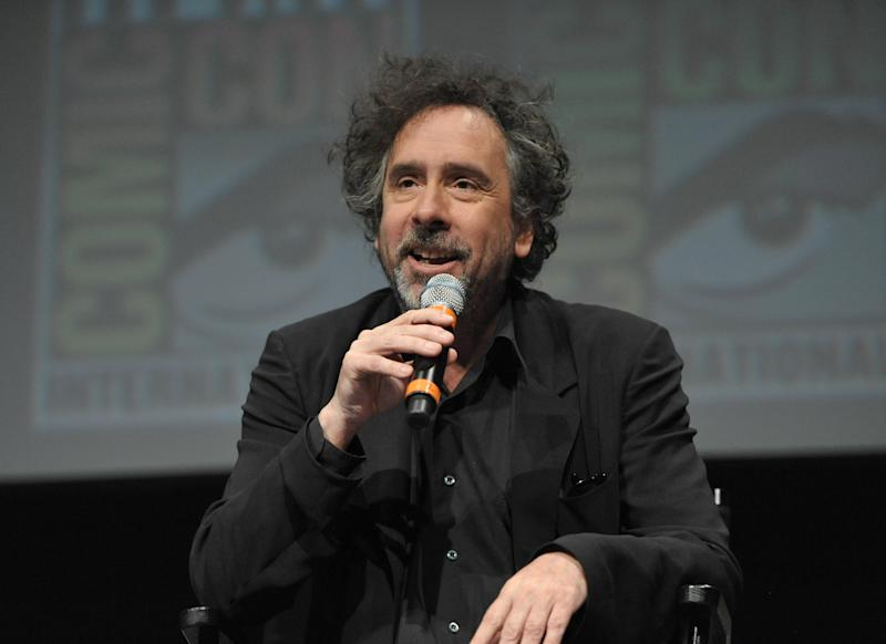 """Tim Burton attends Disney's """"Frankenweenie"""" panel at Comic-Con on Thursday, July 12, 2012 in San Diego, Calif. (Photo by John Shearer/Invision/AP)"""