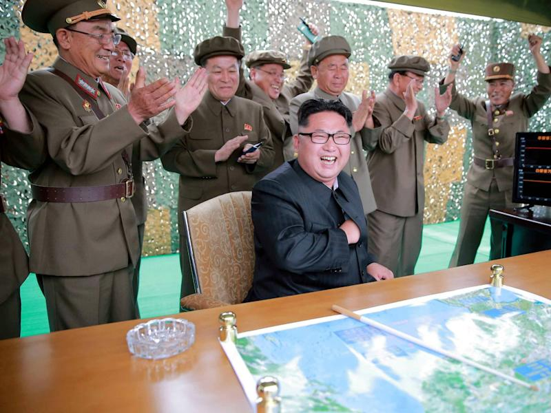 North Korean leader Kim Jong Un reacts during a rocket test launch in this undated photo released by North Korea's Korean Central News Agency (KCNA) on June 23, 2016: REUTERS/KCNA/File Photo