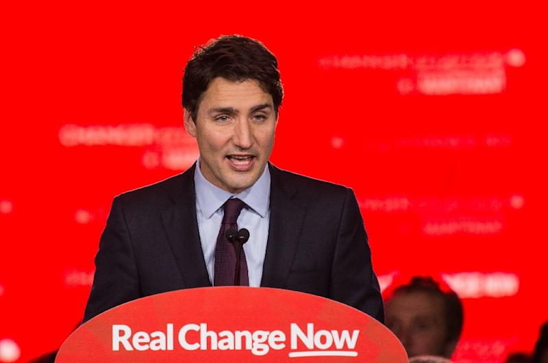 Canadian Liberal Party leader Justin Trudeau speaks in Montreal on October 20, 2015 after winning the general elections