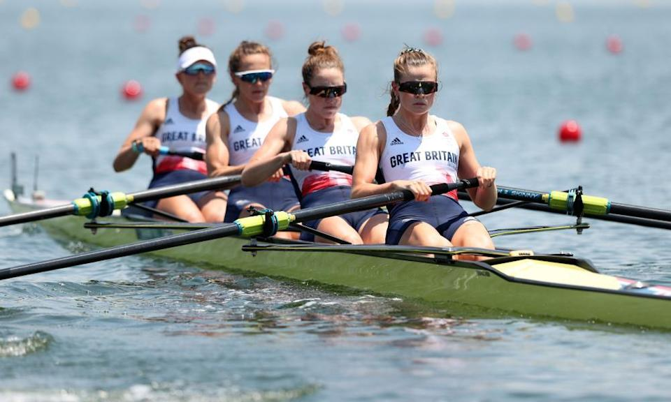 The Team GB women's four race in their heat. Matthew Pinsent has warned 'rowing will get pushed aside' due to BBC coverage restrictions.