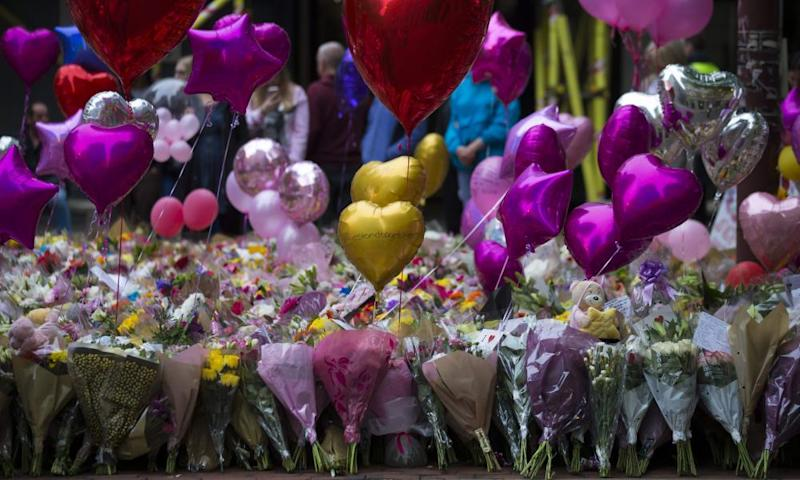 Balloons and flowers in Manchester