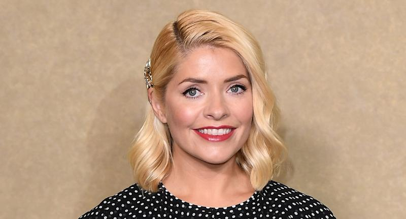 Holly Willoughby appear to have a soft spot for prints as she wore a polka dot dress to attends a BAFTA tribute evening for This Morning in October 2018. (Getty Images)