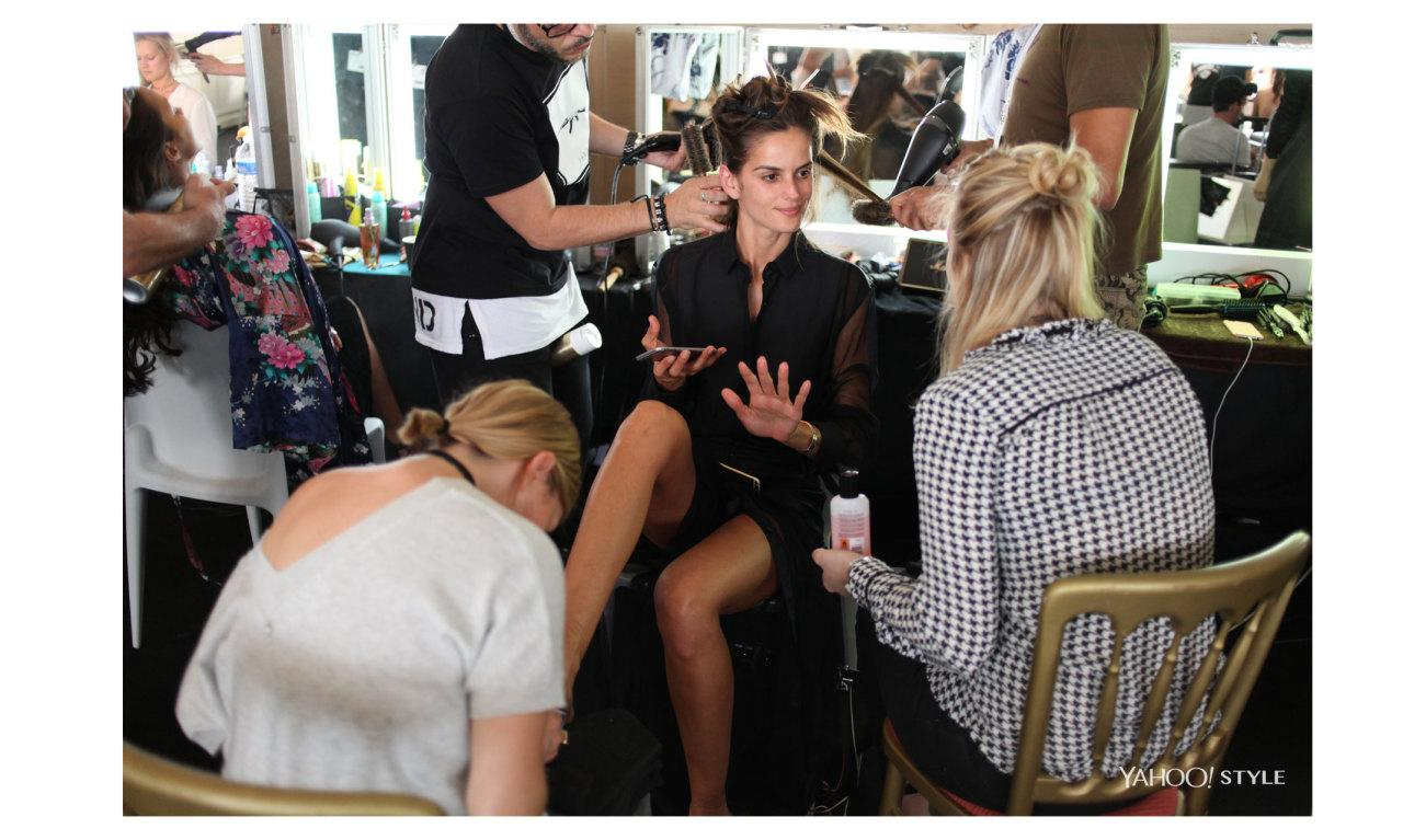 <p>It is four hours before the glitziest soiree of the annual Cannes Film Festival — the amfAR, Cinema Against AIDS gala — is set to begin, and gathered in a suite inside the Hotel du Cap, the legendary Riviera hotel that's hosting the soiree and afterparty, are some of the world's best-known models get ready to dress up.</p><p>A group of experts is here, readying models like Toni Garrn for the red carpet, as well as for the fashion show staged Thursday evening by the doyenne of French fashion, Carine Roitfeld, as the highlight of the amfAR charity gala to raise money for AIDS research.<br /></p><p>A longtime supporter of amfAR, and now in her fifth year of staging the fashion show that's part of the event, Roitfeld has been on the Riviera in the run up to tonight, doing fittings with a selection of the world's top models, from Bella Hadid to Karlie Kloss, who were modeling three dozen designs from such elite fashion houses as Dior and Chanel and newer labels like Hood by Air.<br /><br />The collection of dresses that these models wore tonight have been dubbed the Disco Collection. They were inspired primarily by the disco ball, as well as the legendary New York club Studio 54 and icons from the era, like Jerry Hall and Diane Von Furstenberg.<br /><br />It is precisely this disco aspect that has enticed Garrn and many of the other models, sitting patiently while their looks are perfected, to be part of Roitfeld's fundraiser.</p>