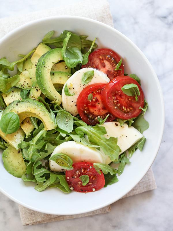 """<p>Calling all avocado lovers--<a rel=""""nofollow"""" href=""""http://www.foodiecrush.com/avocado-caprese-salad-plus-5-crunchy-avocado-salads/"""">this recipe</a> is for you! With a big dose of vitamins in this bowl, you'll get your yummy and your healthy all in one big bite!</p>"""