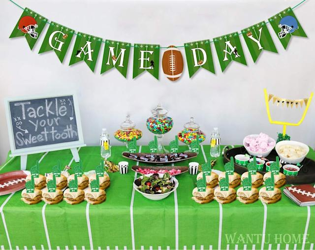 Super Bowl Football Party Supplies. (Photo: Amazon)