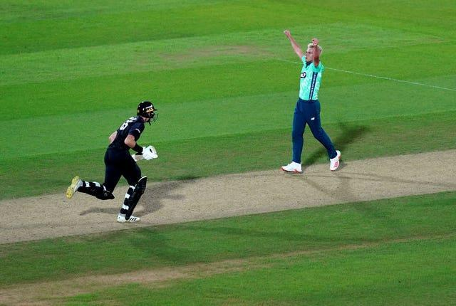 Sam Curran celebrates victory in The Hundred