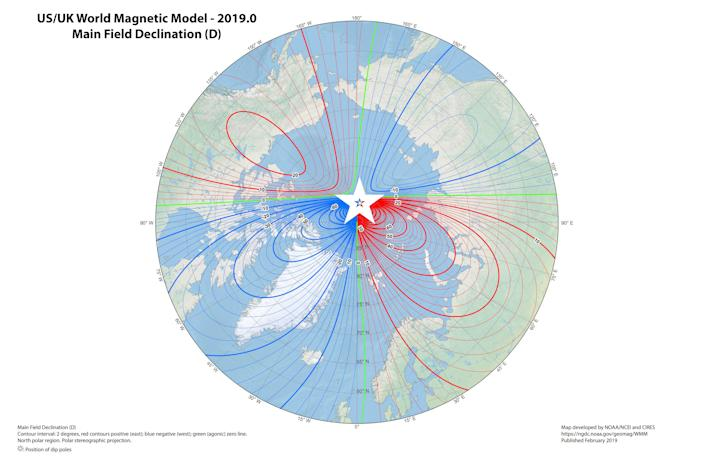 WMM2015v2_D_NORTH magnetic north