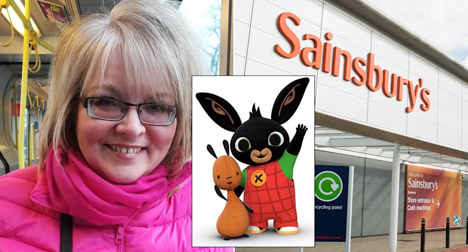 Marian Cunnington was unfairly dismissed from her job at Sainsbury's after making a Black Lives Matter comment about BBC character Bing. (Facebook/BBC/PA)