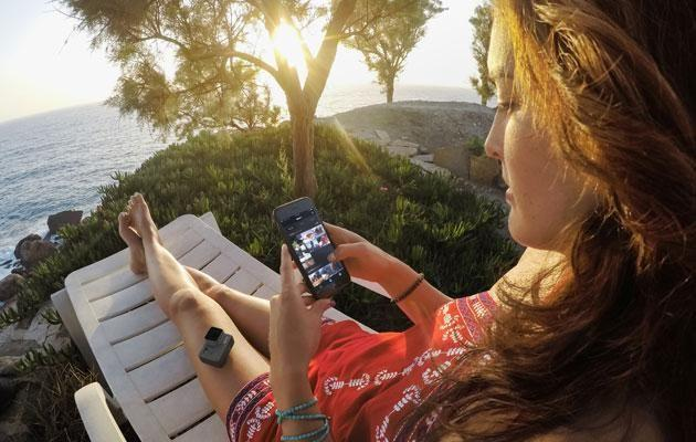 Use your downtime to quickly make videos of your adventures. Source: Supplied