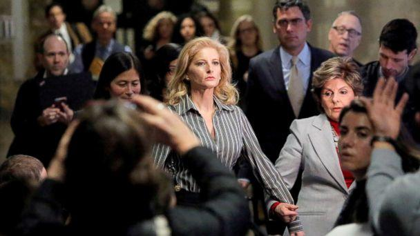 PHOTO: In this file photo, Summer Zervos, a former contestant on The Apprentice, leaves New York State Supreme Court with attorney Gloria Allred (R) after a hearing on the defamation case against President Donald Trump in New York City, Dec. 5, 2017. (Andrew Kelly/Reuters, FILE)