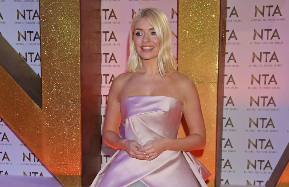 Holly Willoughby has shared a rare picture of her homeschooling her son Chester, pictured in January 2020. (Dave Benett/Getty Images)