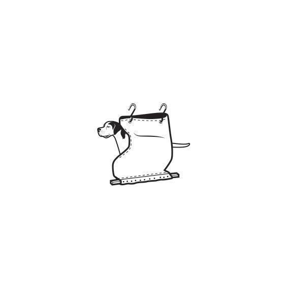 <p>The dog sack is exactly what it sounds like: a canvas bag with a hole for a dog to look out from. It attached to the window frame and running board with two padded hooks and some clamps.</p>