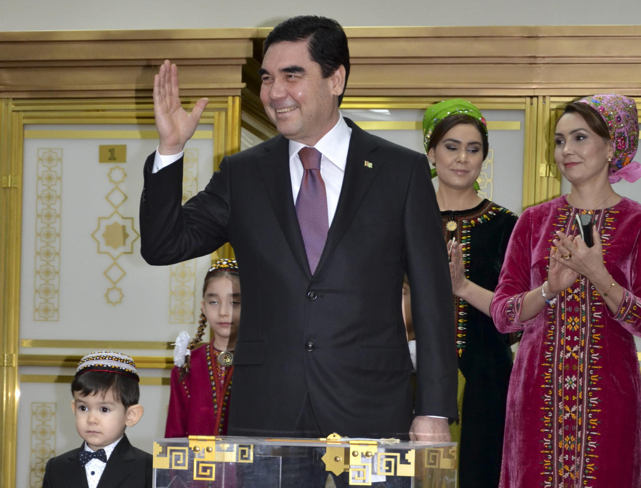 <p>Age: 60<br />Came to power: 2007<br />Gurbanguly Berdymukhamedov, known as the Tyrant of Turkmenistan, came to power after the death of Saparmurat Niyazov, who was known for renaming the months of the year after himself and his mother. Former dentist Gurbanguly has endeavoured to supercede his predecessor with his eccentricity, including a 21m marble and gold leaf statue of himself as well as peforming songs to his citizens. (AP Photo/Alexander Vershinin, File) </p>