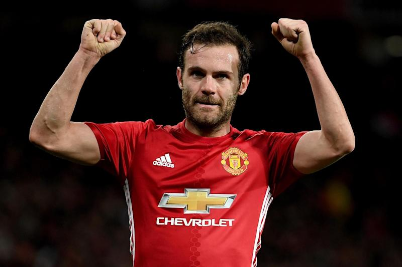 Winner | Juan Mata celebrates after scoring against FC Rostov: Getty Images