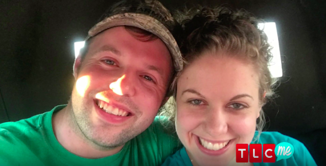 John David Duggar and Abbie Burnett are in a courtship. He presented her with a heart-shaped necklace to seal the deal. (Image: TLC)