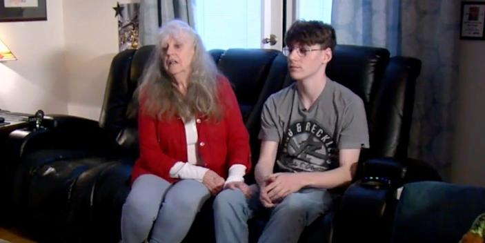 Collin Clabaugh and his grandmother.