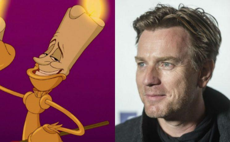McLumiere... Ewan struggled with French accent on Beauty and the Beast - Credit: Disney/PA