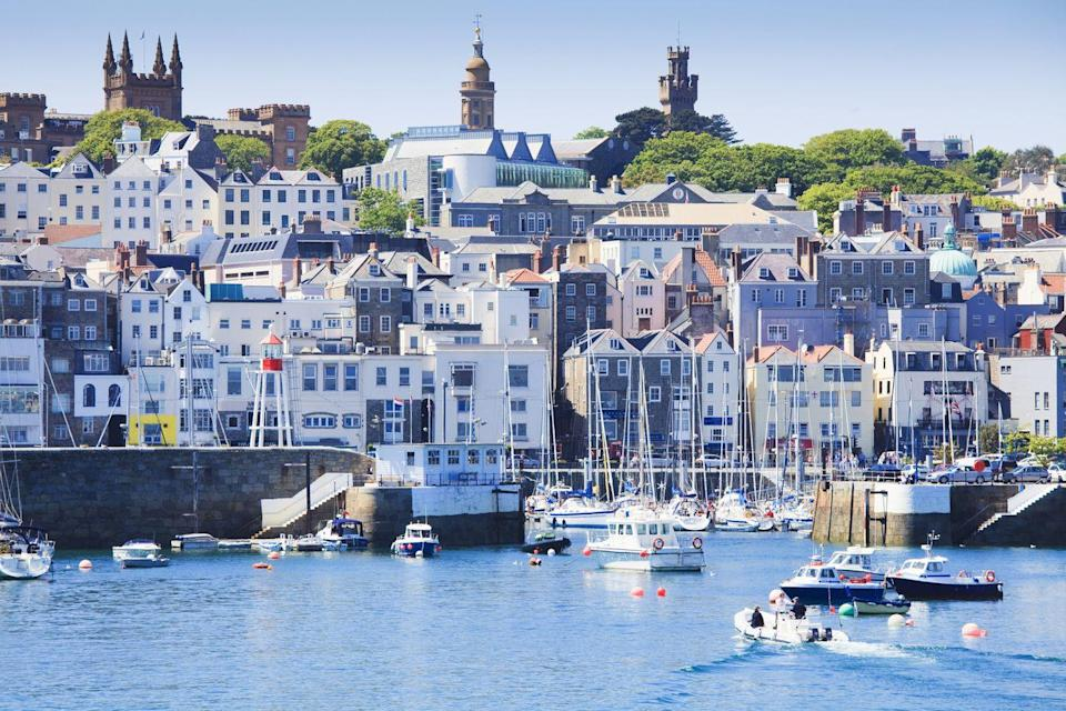 """<p>The second largest of the Channel Islands, Guernsey is bursting with local charm and inspiring nature. With glistening sea views, we're not at all surprised it made the top 10. </p><p><strong>READ MORE</strong>: <a href=""""https://www.countryliving.com/uk/travel-ideas/staycation-uk/a29510524/uk-holiday-destinations/"""" rel=""""nofollow noopener"""" target=""""_blank"""" data-ylk=""""slk:13 of the best places for a staycation in 2021"""" class=""""link rapid-noclick-resp"""">13 of the best places for a staycation in 2021</a></p>"""
