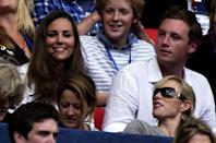 <p>The royal romance was back on as Kate was spotted with Zara Phillips (and later William) at a tribute concert for Princess Diana.<br><i>[Photo: PA]</i> </p>