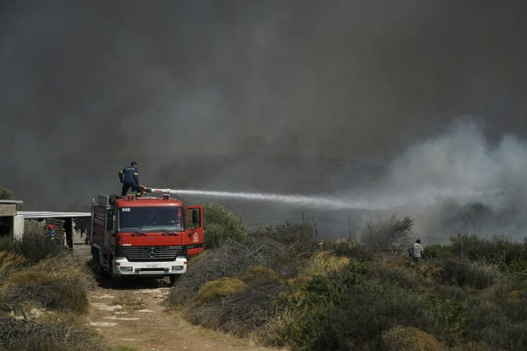 A fire on the island of Elafonissos, in the Peloponnese region was brought under control after a two-day battle (AFP Photo/STRINGER)