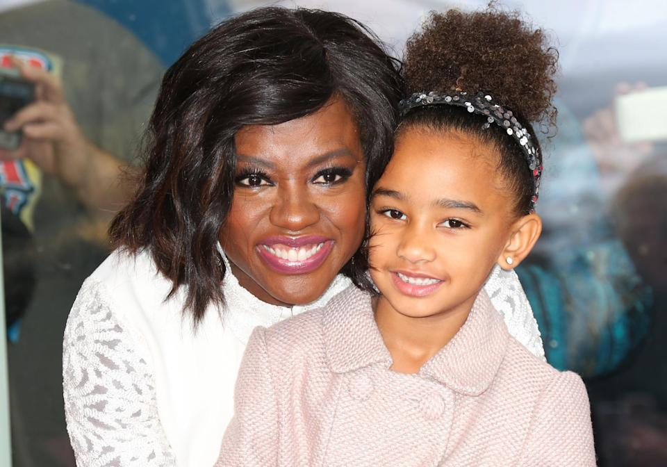 Viola Davis and her daughter, Genesis Tennon, attend the ceremony to honor Davis with a star on the Hollywood Walk of Fame on Jan. 5, 2017, in Hollywood. (Photo by Paul Archuleta/FilmMagic)