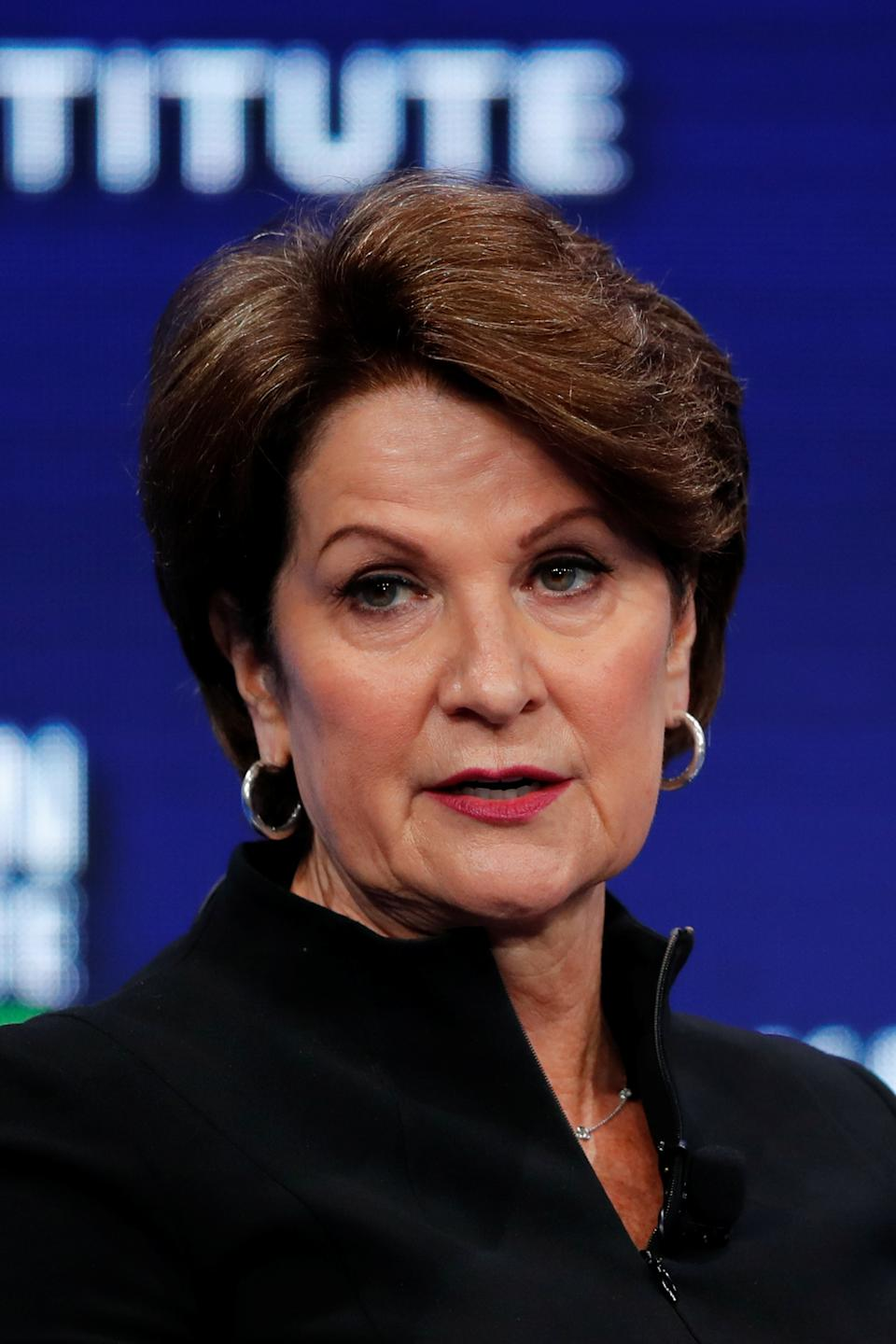 Hewson joined the Lockheed Corporation in 1983. She has held a variety of executive positions with the company. On November 9, 2012, she was elected to Lockheed Martin's board of directors.[5] She has been the CEO since January 2013. She also serves on the board of directors for Sandia National Laboratories since 2010 and DuPont since 2007.[9] Since becoming CEO in 2013, Lockheed's market cap has doubled. In July 2015, Hewson announced the purchase of Sikorsky Aircraft, the producers of Sikorsky UH-60 Black Hawk helicopters, giving Lockheed its own helicopter building capability. Hewson has also shifted more company efforts towards building military hardware.[10] Hewson joined the board of Johnson & Johnson in 2019.