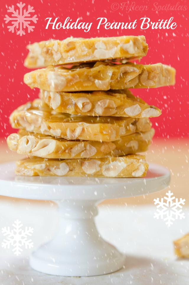 "Photo: Fifteen Spatulas<br> Peanut Brittle<br><br> Giftable, mailable, and impossible to mess up, this peanut brittle is just about perfect in every way. <br><br> <b>Recipe: <a href=""http://www.fifteenspatulas.com/peanut-brittle/"" rel=""nofollow noopener"" target=""_blank"" data-ylk=""slk:Peanut Brittle"" class=""link rapid-noclick-resp"">Peanut Brittle</a></b><br>"
