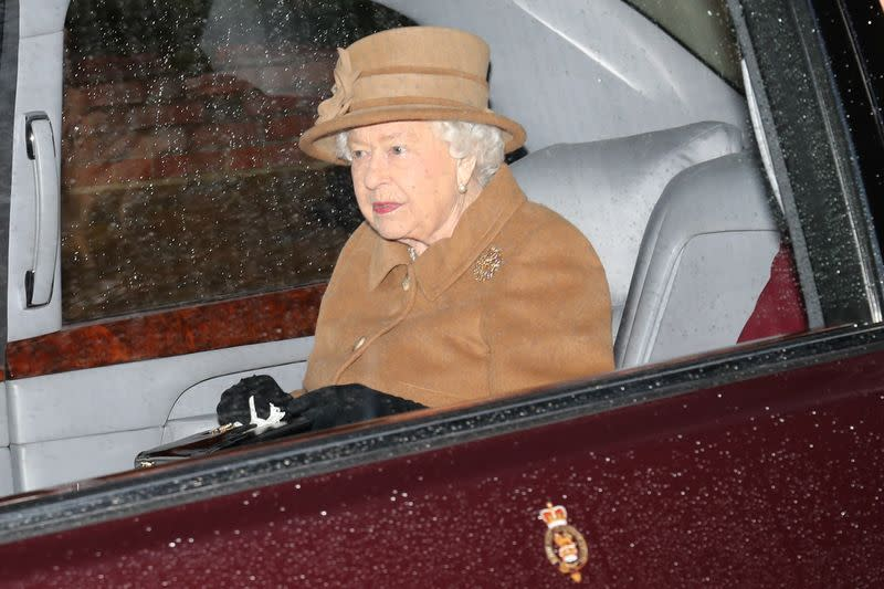 Members of the royal family attend church in Sandringham