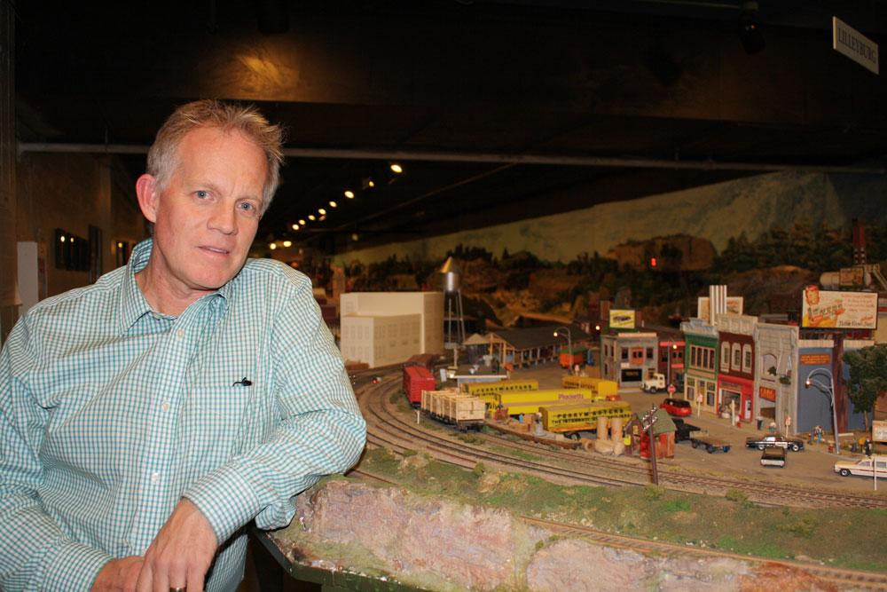 Club President Dave MacLean poses in front of part of the display. After 67 years in the Liberty Village location, The Model Railroad Club of Toronto will be moving to make way for a condo.