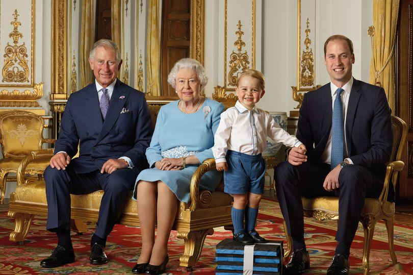 Prince Charles, Queen Elizabeth II, Prince George, Prince William