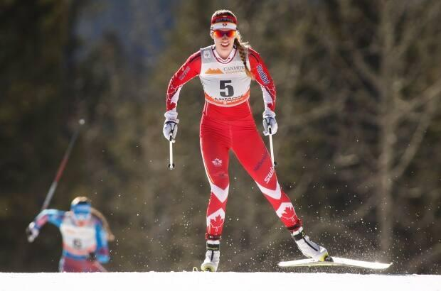 Cross-country skier Dahria Beatty, seen here racing for Team Canada in Dresden, Germany in 2019, won International Female Athlete of the Year.